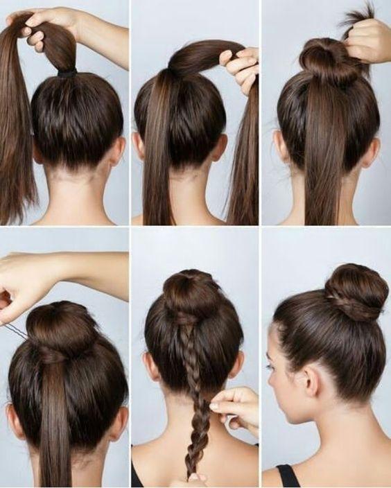 egyszerű frizura