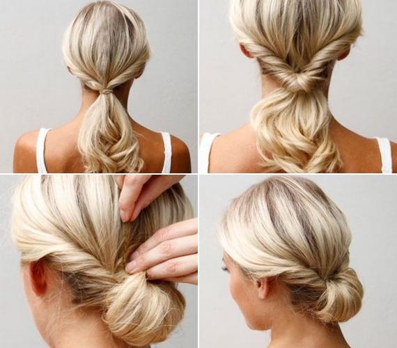 frizura ötlet középhosszú hajhoz